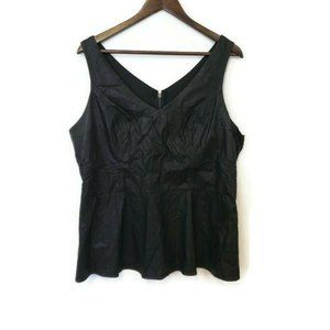 Torrid Womens Sleeveless Faux Leather Top